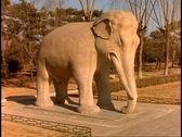 Stock Video Footage of China, Ming Tomb Statues, medium shot, elephant