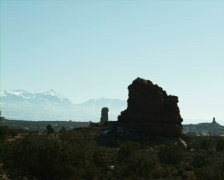 Rock formations in Arches National Park Utah Stock Footage