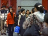 Tokyo, The Ginza District by day, crowds, medium shot, follow people Stock Footage