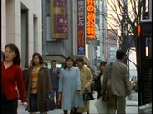 Tokyo, The Ginza District by day, crowds, medium shot Stock Footage
