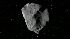 Huge Asteroid in Space - stock footage