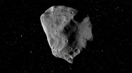 Stock Video Footage of Huge Asteroid in Space