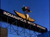 Stock Video Footage of Indianapolis Motor Speedway, sign above entrance
