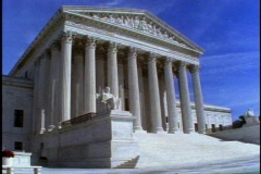 United States Supreme Court Building, low, angle Stock Footage