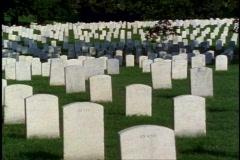 Arlington National Cemetery, medium close up of  gravestones, no people Stock Footage