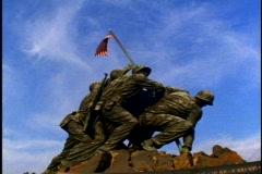 Iwo Jima Memorial, wide shot, low Stock Footage