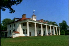 Mount Vernon, George Washington Home and Plantation, medium wide shot Stock Footage