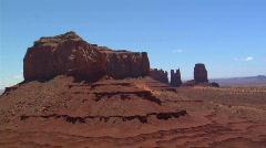 UT MV Monument Aerial 1 Stock Footage