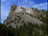 Stock Video Footage of Mount Rushmore, front view, still, wide shot