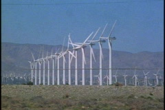Windmills, Banning Pass, Palm Springs - stock footage
