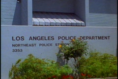 Los Angeles Police Department, sign Stock Footage