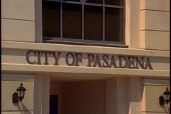 Pasadena City Hall, City of Pasadena sign Stock Footage