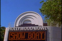 The Hollywood Bowl Stock Footage