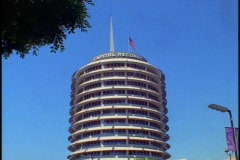The Capitol Records Building Stock Footage