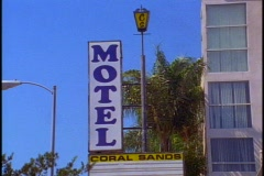 Motel sign, cheap Stock Footage