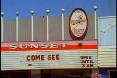 Pussycat porno theater called Sunset Stock Footage