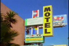 Motel sign Stock Footage