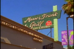 Musso Frank Grill in Hollywood Stock Footage