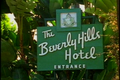 The Beverly Hills Hotel, sign Stock Footage