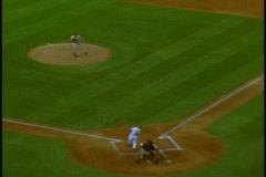 Dodger Stadium, pitch, batter runs Stock Footage
