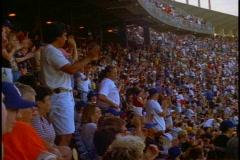 Dodger Stadium, crowd in stands - stock footage