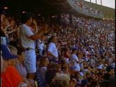 Dodger Stadium, crowd in stands Stock Footage