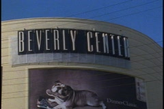 Beverly Center shopping mall in Los Angeles, sign on top Stock Footage