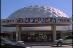 The Cinerama Dome on Sunset, front Stock Footage