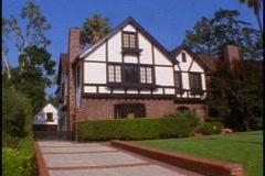 English Tudor Mansion, Hancock Park Stock Footage