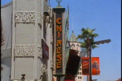 Grauman's Chinese Theater in Hollywood, vertical sign Stock Footage