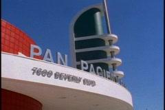 Pan Pacific Park auditorium, close up - stock footage