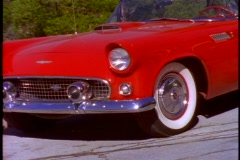 Thunderbird, 1956 Hollywood Hills, zoom out Stock Footage