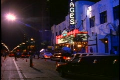 Pantages Theater, Hollywood, tilt up, premier, limos Stock Footage