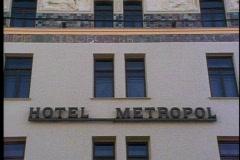 Metropole Hotel sign, Stock Footage