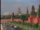 Kremlin, with traffic Stock Footage