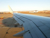 Boeing-757 wing view during taxiing Stock Footage