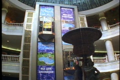 Moscow downtown underground mall, elevator descending, Stock Footage
