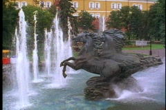 Fountain of Prancing Horses, Stock Footage