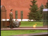 Eternal Flame, Russian Soldier at attention, Stock Footage
