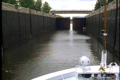 Moscow Canal Lock, lock opens, Stock Footage