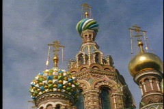 St. Petersburg, onion dome church, most Russian looking, top Stock Footage