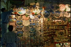 Grand Bazaar of silver platters, unsteady Stock Footage