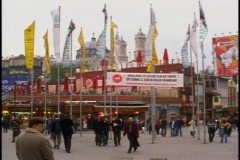 Taksim Square, flags, people Stock Footage