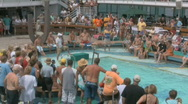 Stock Video Footage of Sexy People On A Cruise Ship Waiting For A Belly Flop Contest 4