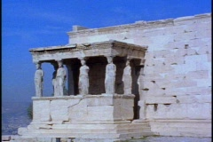 Acropolis, Temple of Athena Nike,  still - stock footage