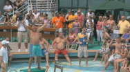 Stock Video Footage of Sexy People On A Cruise Ship Waiting For A Belly Flop Contest 3