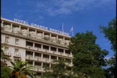 Hotel Bretagne on Plateia Syntagmatos Stock Footage