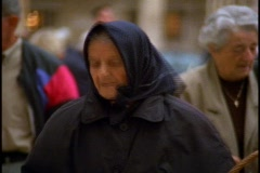 Old woman's face Stock Footage