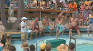 Stock Video Footage of Sexy People On A Cruise Ship Waiting For A Belly Flop Contest 6