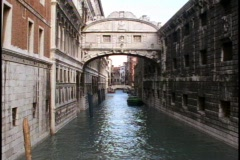 Venice, Bridge of Sighs,  tilt up Stock Footage